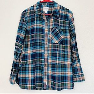 Melrose and Market Plaid Button Down